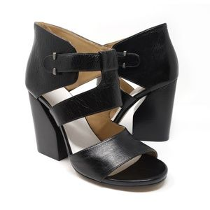 Maison Martin Margiela black leather block heels
